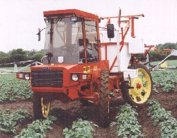 5D 4WS with 24m alloy boom and row crop wheels